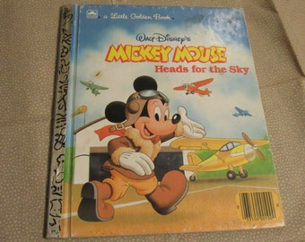 Little Golden Book-Mickey Mouse, Heads for the Sky, Walt Disney, 1987