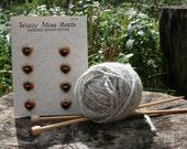 SALE! 8 Red Cedar Heart Buttons- Reclaimed Western Red Cedar Wood- Handmade Wooden Buttons- Eco Craft Supplies