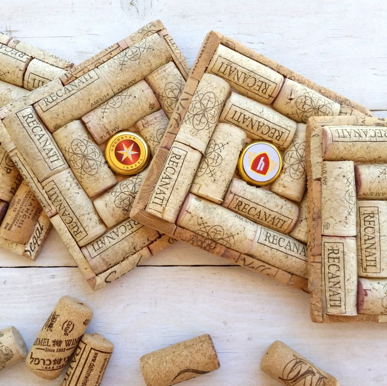 Wine Cork Wedding: Wine Cork Coasters Set Of 4 Wedding Favors Bridal Shower