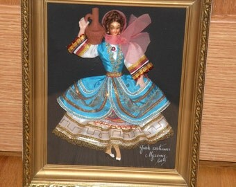 Greek Costumes Shadow Box Picture Lady with Urn