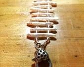 RESERVED FOR LESLIE Ladder Stick Pearl and Crystal Bracelet