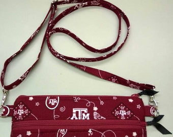Texas A&M Aggie handmade purse cross body bag