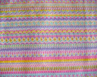 Pastel Stripe Vintage Cotton Fabric 56 x 25 Inches
