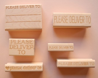 Please Deliver To Rubber Stamps