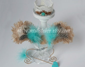 Turquoise Cupid Set Newborn Photography Prop