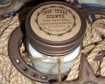 Pillow Talk (Downy Fresh Scent) - 8 oz Western Texas Cowboy Mason Jar Candle