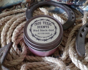 Red Neck Girl - 4 oz Small Mason Jar Western style candle