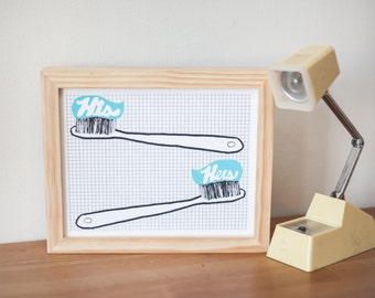 His and Hers - Tooth Brushes