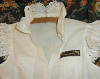Little White Cotton Maids Shirt