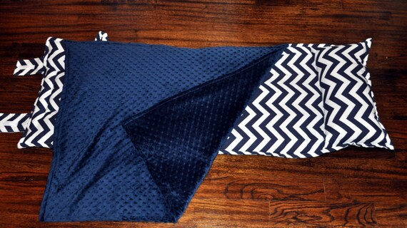 Precious And Prosperous Designs Navy Chevron Nap Mat With