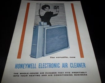 Honeywell Electronic Air Cleaner Manual Booklet Brochure