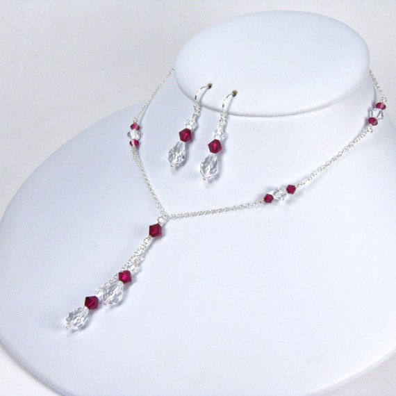 Mother Of The Bride Jewelry: Items Similar To Mother Of The Bride Jewelry Set Ruby Red