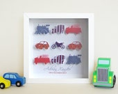 """Mixed Transport Paper Cut Wall Art Frame (9"""" x 9"""") (Free Shipping within Australia)"""