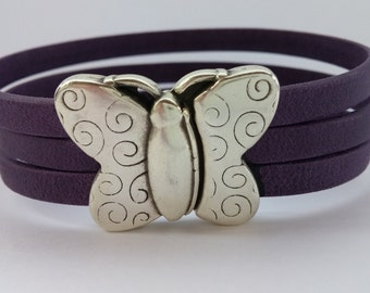 Lupus Bracelet with Silver Butterfly Clasp