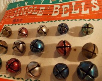 ON SALE Vintage Criterion Jingle Bells Vintage Christmas Vintage Holiday Decor Vintage Antique Bells Green Blue Red Bells