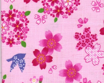 Cherry Blossom Material - 100% Cotton - 30cm x 50cm (11.8 x 19.7 inches) - Reference 12