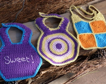 Lil' Blessing Baby Bibs - PDF Crochet Pattern - Instant Download