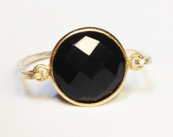 Black Onyx Ring   Black Onyx Gemstone   Gold Ring   14K Gold Filled Ring   Black Onyx Jewelry