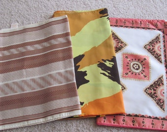 Scarves Lot of 3 Vintage Ladies Poly Fashion Scarf Affordable Scarves  -  (#10)
