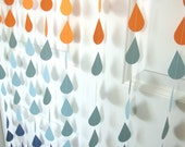 Ombre raindrop sprinkle shower garland