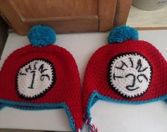 Thing 1 or Thing 2 Crochet Hats; Dr. Seuss Inspired Thing 1 or Thing 2 Hat