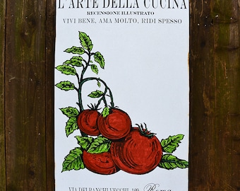 L'Arte Cucina TOMATO - 24x36 - salvaged wood - Home Decor - RuPiper Designs Original Design