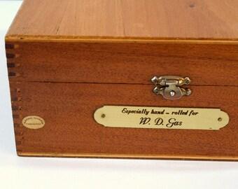 Large Wood Cigar Box, Personalized Cigar Box