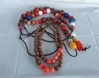 Vintage Wood Craft Beads /Lot
