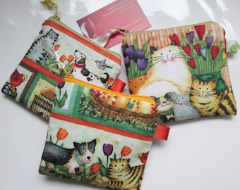 SALE Cats and dogs  Card/Coin Purse