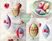 PDF Pattern. Vintage style christmas felt ornaments