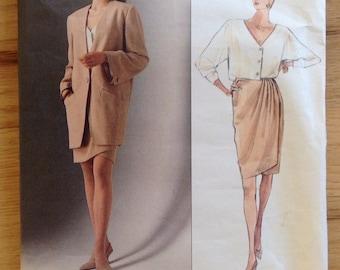 Uncut Vogue 2512 Donna Karen Skirt, Blouse and Jacket