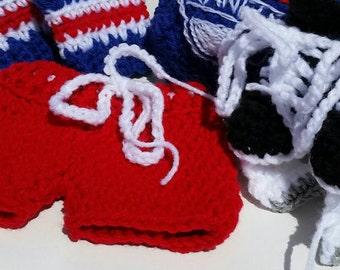 Rangers baby Hockey Skates and Hockey Pants