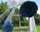Large Paper Flowers 10 to 18 inches in the Colors of your choice