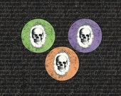 Stickers, Halloween Stickers, Skull, Spooky Stickers