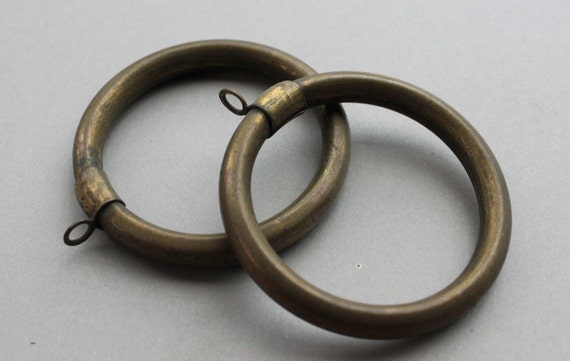 large antique chateau bronze curtain rings
