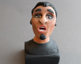 "One of a Kind - Original ""Jeb"" Polymer Clay Sculpture - Tiny Bust"