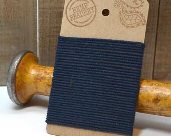 Organic Cotton Cord  1mm,   5 yards,    Tubular   Cord, Navy Organic Cotton