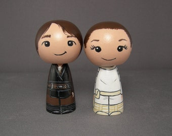 Padme and Anakin Inspired Wedding Cake Toppers