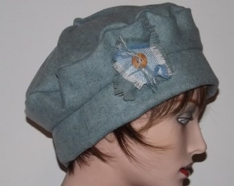 Sale Item, Ladies Blue Wool Tam