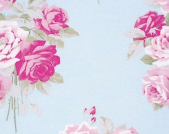 Boutique Sewing Fabrics Tanya Whelan Slipper Roses Sky Perfect for Girls, Women and Home Decor Sewing sold in Half Yards
