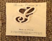 Antique French Monogram Letter G on Paper Pat 1906 No. 3 Plumetis Express Satin Stitch