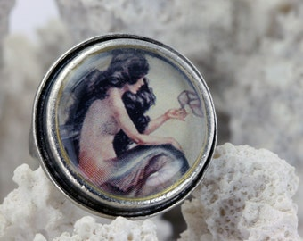 Mermaid with Shoe - Adjustable Ring