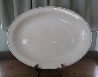 Antique White Ironstone Distressed Canonsburg Platter, Vintage Serving Dish, White , Kitchen, Home Decor