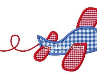 486 Airplane Machine Embroidery Applique Design