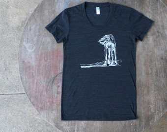 Star Wars AT-AT Walker Hipster Tee / American Apparel Women's T-shirt in Heather Black