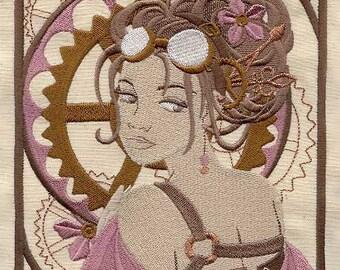 STEAM NOUVEAU - Machine Embroidered Quilt Blocks(AzEB)
