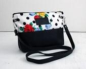 Everyday Bag, Polka Dots / crossbody bag, cross body purse, fabric handbag, fabric purse, small crossbody bag, clutch purse, vegan bag