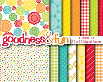Buy 2, Get 1 FREE - Dessert Party Digital Papers - Digital Party Paper Pack - Instant Download
