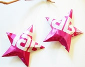 Tab Stars Christmas Ornaments Soda Can Upcycled