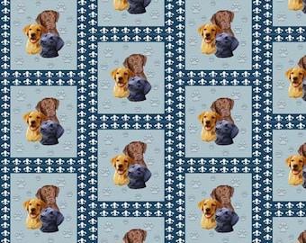 Three Labrador Retrievers fabric